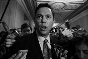 Rep. Jason Chaffetz, R-Utah, departs the Longworth House Office Building after House Majority Leader Kevin McCarthy, R-Calif., unexpectedly dropped out of the race for Speaker of the House on Capitol Hill in Washington, Thursday, October 8, 2015.
