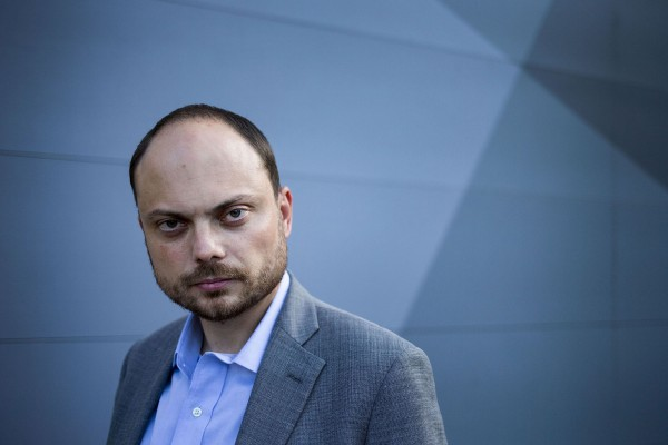Vladimir Kara-Murza poses for a portrait in Arlington, Va., Friday, August 19, 2016 before heading back to Moscow, Russia the next day.