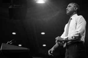 President Obama rolls up his sleeves as he speaks during a Young African Leaders Initiative town hall, at the Omni Shoreham Hotel, in Washington, Wednesday, Aug. 3, 2016.