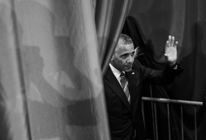 "President Barack Obama waves after speaking at the White House Summit on Global Development, at the Ronald Reagan Building in Washington, Wednesday, July 20, 2016. The White House Development Day brings together ""development leaders, public and private sector financing partners, civil society, diplomats, and entrepreneurs to mark the global progress and catalyze further development efforts."""