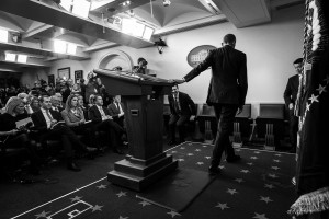 President Obama speaks in the James S. Brady Press Briefing Room during his end of the year news conference, at the White House in Washington, Thursday, Dec. 15, 2016.