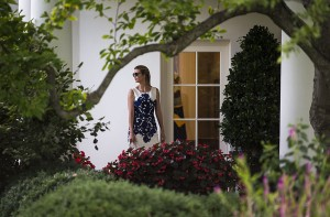 Ivanka Trump walks past the Oval Office after arriving behind President Donald Trump at the White House in Washington, Aug. 30, 2017 after traveling to Missouri. (Al Drago for The New York Times)