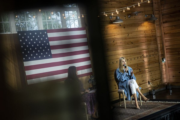 White House senior adviser Ivanka Trump campaigns for President Donald Trump with former White House Press Secretary Sarah Huckabee Sanders at Alexander Homestead in Charlotte, NC, on Wed., Oct. 28, 2020. Photo by Al Drago/UPI