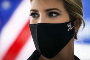 Ivanka Trump, senior adviser to U.S. President Donald Trump, wears a face mask during as she tours the distribution center of Coastal Sunbelt Produce in Laurel, Maryland, U.S., on Friday, May 15, 2020. Photographer: Al Drago/Bloomberg