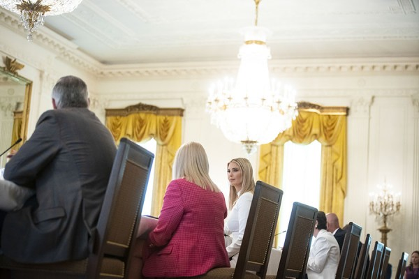 Ivanka Trump, assistant to U.S. President Donald Trump, listens during an American Workforce Policy Advisory Board meeting in the East Room of the White House in Washington, D.C., U.S., on Friday, June 26, 2020. The board, co-chaired by Ivanka Trump and Commerce Secretary Wilbur Ross, is hosting their sixth meeting and are joined by members of the National Council for the American Worker. Photographer: Al Drago/Bloomberg