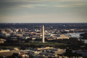 The Washington Monument stands in this aerial photograph taken above Washington, D.C., U.S., on Tuesday, Nov. 4, 2019.