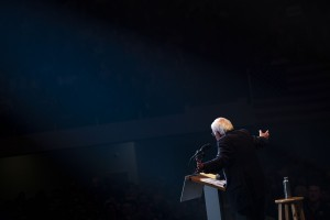 Senator Bernie Sanders, an independent from Vermont and 2020 presidential candidate, speaks during a campaign event in Cedar Rapids, Iowa, U.S., on Saturday, Feb. 1, 2020.
